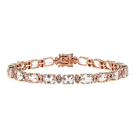 157 020 Fierra 14k Rose Gold 7 25 13 62ctw Morganite Diamond