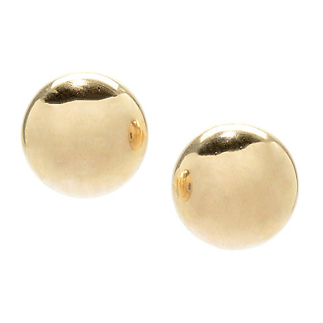 158 130 14k Gold Ball Stud Earrings