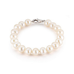 "Kwan Collections Sterling Silver 6.25"" or 6.75"" 10-11mm Freshwater Cultured Pearl Bracelet"