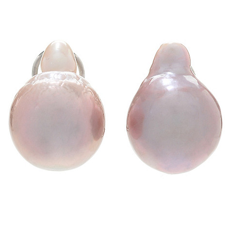 158 540 Kwan Collections Sterling Silver 13 14mm Freshwater Cultured Pearl Stud Earrings