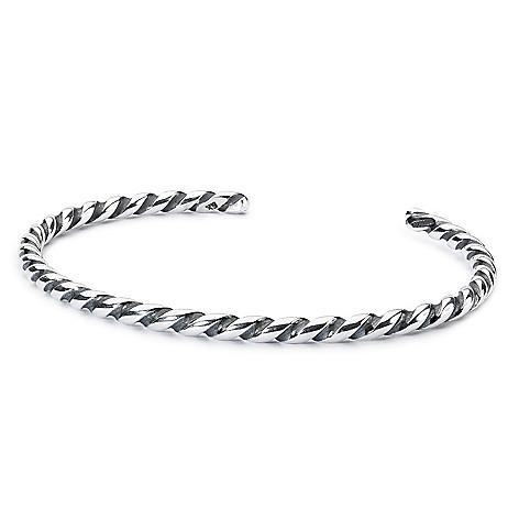 Trollbeads Sterling Silver Twisted Cuff Bracelet