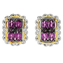 Gems en Vogue 2.16ctw Color Change Purple Garnet Stud Earrings