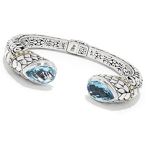 159 461 Silver By Samuel B 18k Gold Accented 6 75 Gemstone