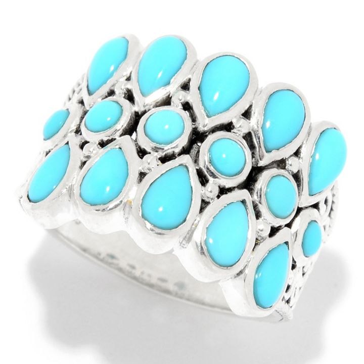 Markdown Monday - Your Favorite Day to Save - 159-500 Artisan Silver by Samuel B. Sleeping Beauty Turquoise Wide Band Ring