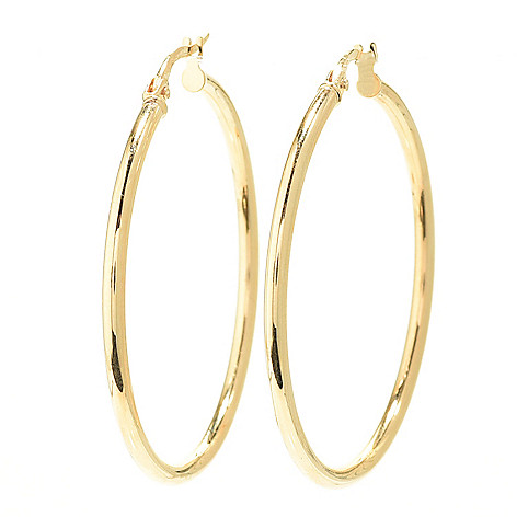 163 701 Stefano Oro Capri 14k Gold Choice Of Size Hoop Earrings