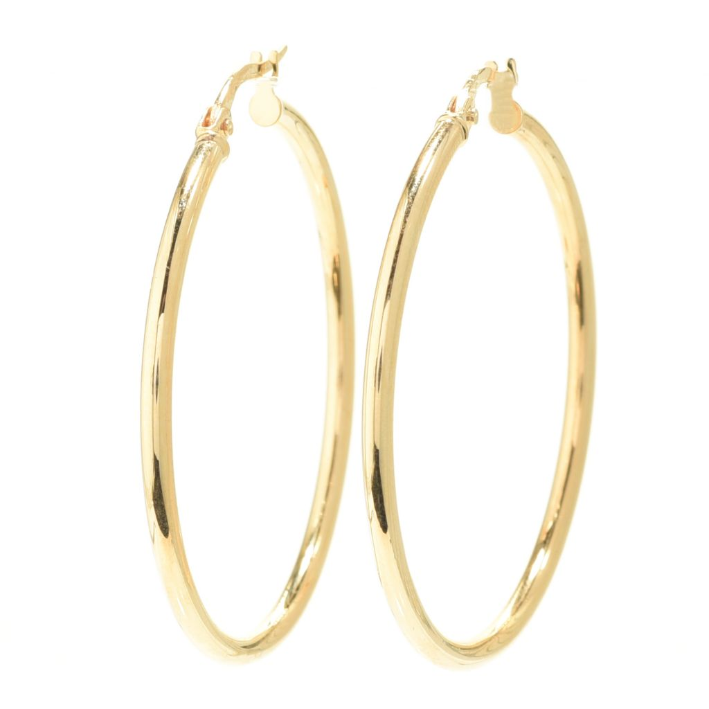 Elements Gold Triple Hollow Open Hoop Earrings - Gold/Rose Gold/Whi QfArFKSJ