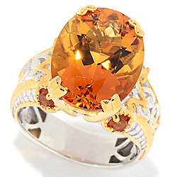 Gems en Vogue 8.41ctw Ametista Madeira Citrine Cocktail Ring