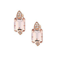 Fierra™ 14K Rose Gold 2.72ctw Morganite & Diamond Earrings