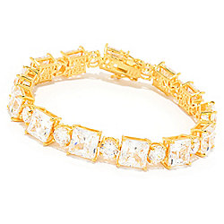 Victoria Wieck for Brilliante® Square & Round Cut Simulated Diamond Line Bracelet