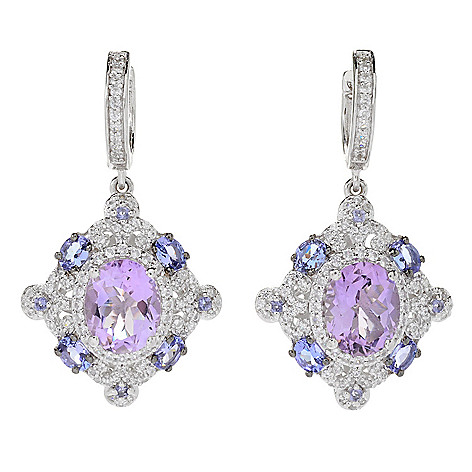 166 158 Victoria Wieck Collection 1 5 96ctw Pink Amethyst Multi Gemstone Earring Scale