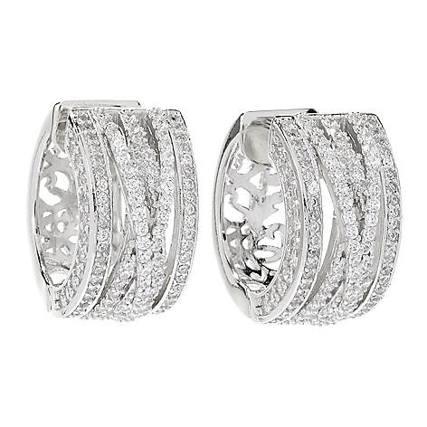 166 216 Victoria Wieck For Brilliante 3 71 Dew Simulated Diamond Huggie Hoop Earrings