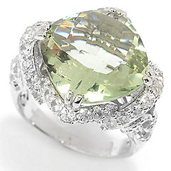 Rings - Victoria Wieck Collection 8.38ctw Checkerboard Cut Gemstone & White Zircon Ring - 166-757