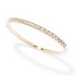 Beverly Hills Elegance® 14K Gold Diamond Accented Stack Band Ring - 166-886