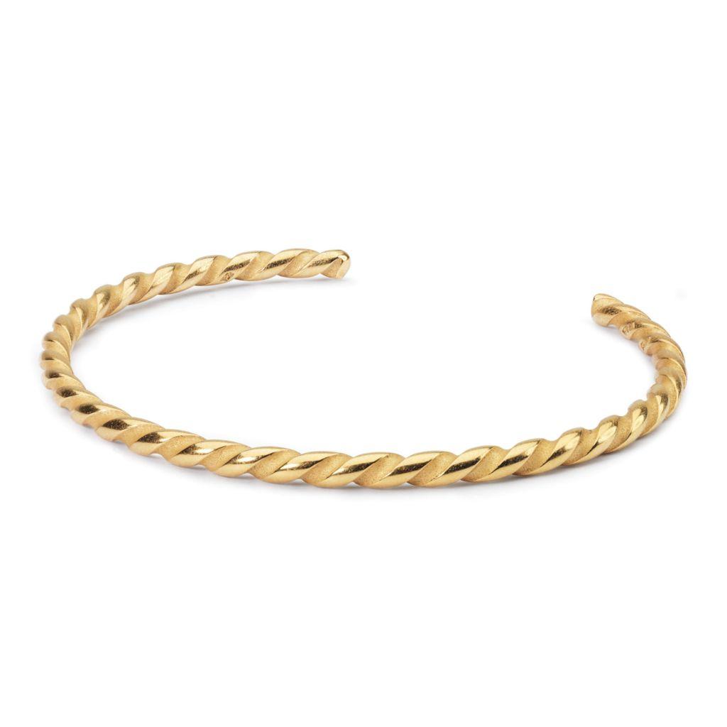Trollbeads 18k Gold Embraced Choice Of Size Twisted Cuff Bracelet