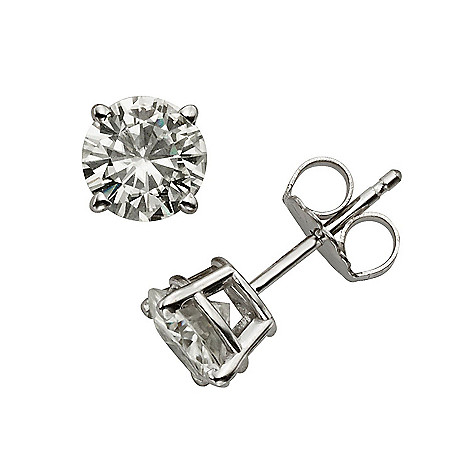 59780c4bc 167-982- Forever Classic Moissanite Sterling Silver Stud Earrings