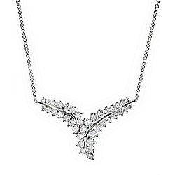 Necklaces & Pendants - EFFY Classique 14K White Gold 18 1.48ctw Diamond Bypass Necklace - 168-078