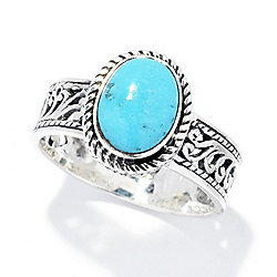 Artisan Silver by Samuel B. Persian Turquoise Openwork North-South Ring