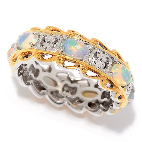 0cf095d4a 169-445- Gems en Vogue Choice of Birthstone Eternity Band Stack Ring