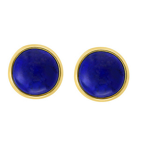 169 702 Jewelle 14k Gold 10mm Round Lapis Lazuli Stud Earrings