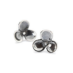 "Trollbeads ""Blooming Katniss"" Sterling Silver Flower Stud Earrings"