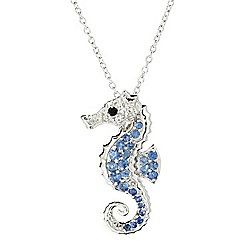 Gem Treasures® Sterling Silver 1.04ctw Ceylon Blue Sapphire & Multi Gem Pendant