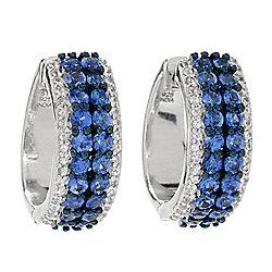 f11789674 NYC II® 2.65ctw Ceylon Blue & White Sapphire Huggie Hoop Earrings