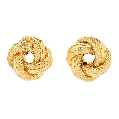 170 983 Viale18k Italian Gold Love Knot Stud Earrings