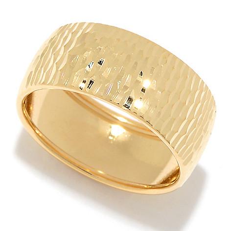 Viale18K® Italian_Gold Diamond_Cut Band_Ring