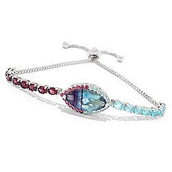 BRACELETS - 171-186 NYC II® 6.29ctw Bi-Color Fluorite & Multi Gemstone Adjustable Bracelet - 171-186
