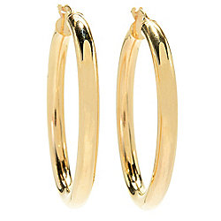 Stefano Oro - 171-334 Stefano Oro Roma 14K Gold Tubing Choice of Size Hoop Earrings - 171-334