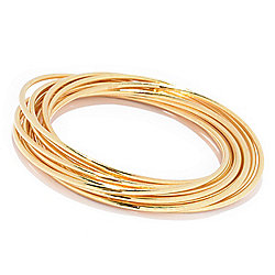 VOGA Collection - 171-606 VOGA Collection 18K Gold Electroform Bangle Bracelet - 171-606