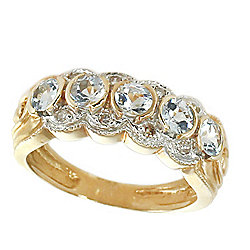Gems en Vogue The Vault 14K Gold Aquamarine & Diamond Band Ring