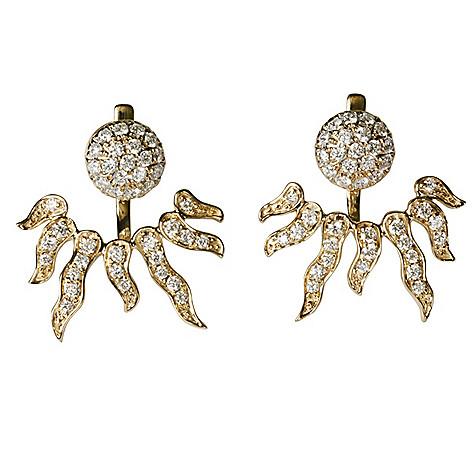 4c2a0e195 171-946- Sonia Bitton Galerie de Bijoux® 14K Gold 1.00ctw Diamond Sunburst