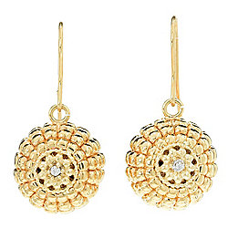 "Stefano Oro ""Cupola"" 14K Gold 1"" Electroform Drop Earrings"