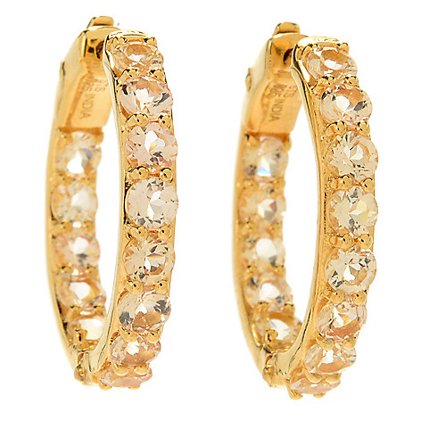 172 654 Nyc Ii Choice Of Size Imperial Topaz Inside Out Hoop