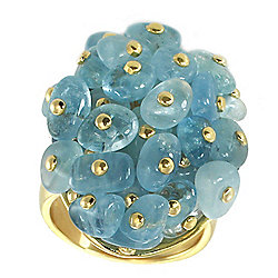 "Valitutti's ""United Designers"" Provisor + Wisch Aquamarine Beaded Ring"