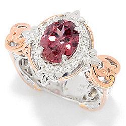 Gems en Vogue 3.28ctw Rose & White Zircon Halo Ring - 172-771