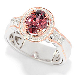 Gems en Vogue 2.02ctw Oval Rose Zircon & Diamond Ring