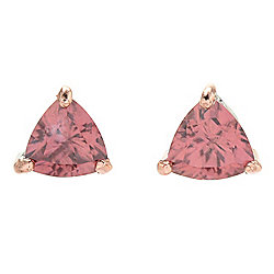 Gems en Vogue 2.40ctw Rose Zircon Trillion Stud Earrings