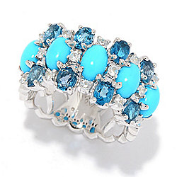 c64af1e21 Victoria Wieck Collection Sleeping Beauty Turquoise & Multi Gem Ring