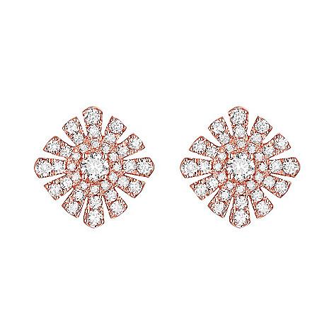 173 462 Prism Margaretha 14k Rose Gold 0 64ctw Australian Diamond Stud