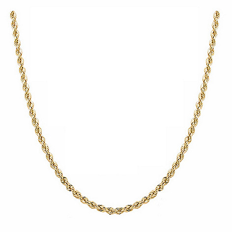 8b0ce3160dd1a 14K Italian Gold Choice of Length Rope Chain Necklace