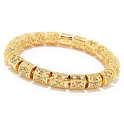 Stefano Oro Damascato Ricami 14K Gold Stretch Bracelet, 19.1 grams - 173-711