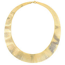 Toscana Italiana - 174-026 Toscana Italiana 18 Polished Graduated Cleopatra Chain Necklace - 174-026