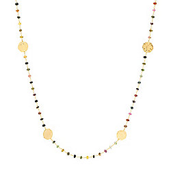 "Toscana Italiana 18K Gold Embraced™ 36"" Acqua Bagnata Multi Tourmaline Beaded Necklace"