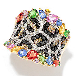 Confetti - EFFY Confetti 2.76ctw Diamond, Multi Sapphire & Tsavorite Animal Print Ring - 174-128