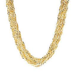 Stefano Oro - Stefano Oro 14K Gold 18 Semi-Solid Torchon Necklace, 20.42 grams - 174-284