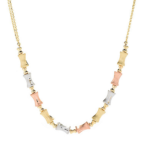 Gold_of Distinction&trade 18_14K_Gold Bamboo_Necklace 148_grams
