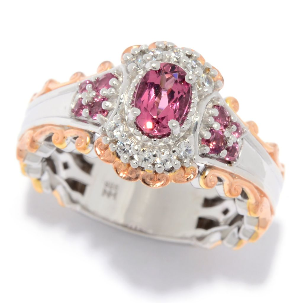 Gems en Vogue Choice of Oval Tourmaline & Gemstone Cocktail Ring - 175-028