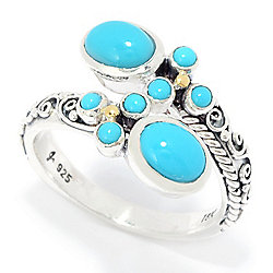 Artisan Silver by Samuel B. Sleeping Beauty Turquoise Bypass Ring
